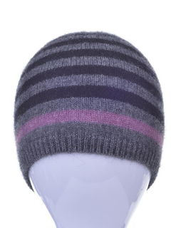 Stripe Hat in Possum Merino Silk McDONALD/6103