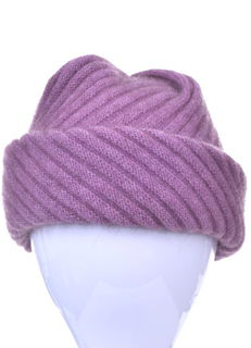 Pleated Top Ribbed Hat Possum Merino Silk McDONALD/6138
