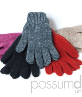 Plain Glove in Possum Merino Possumdown/A313