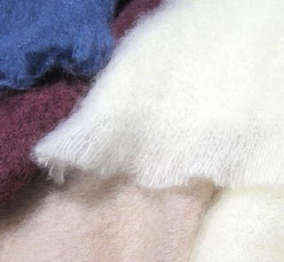 3) MOHAIR THROWS