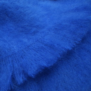 MASTERWEAVE WINDERMERE Mohair Throws * COBOLT BLUE