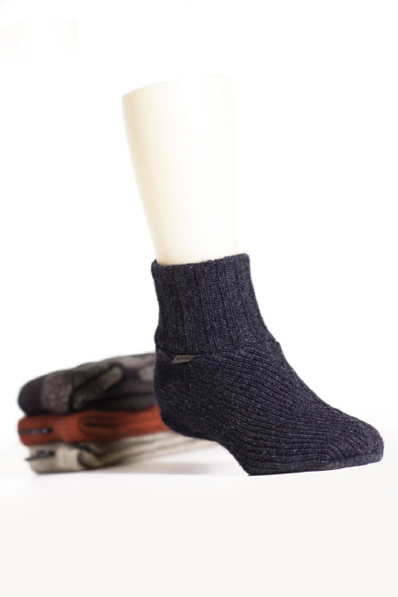 Plain Slipper Socks in Possum Merino Silk KORU/K081