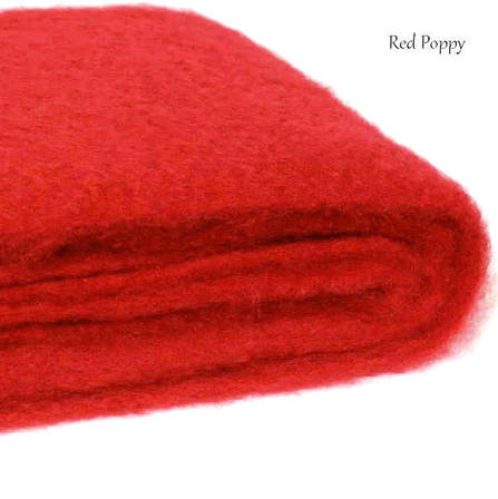 RED POPPY / NZ Mohair Throw Blanket Winter/Weight