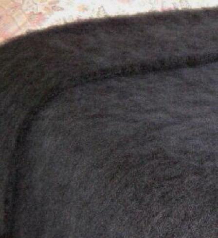 CHARCOAL / NZ Mohair Couch or Knee Rug, Winter/Weight