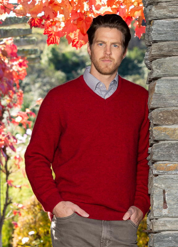 Noble Wilde NW1002 Oxford Vee Jersey Possum Merino