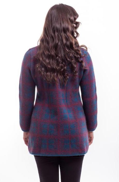 Mcdonald Tartan Longline Coat 6044 Nz Possum Merino Silk