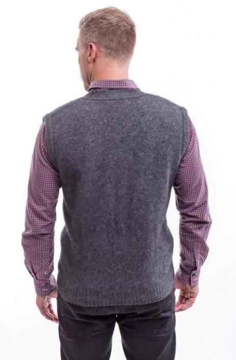 Argyle Vest 6228 Possum Merino Silk Mcdonald Textiles Nz
