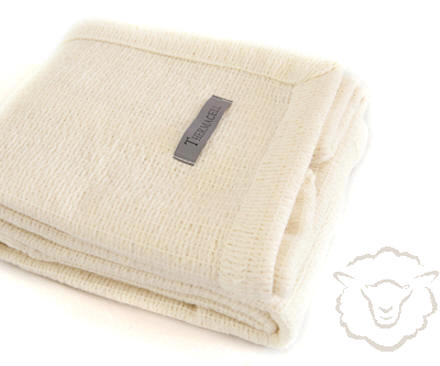 NZ THERMACELL Merino Wool Cot Size Blanket ~ 110 x 130cm