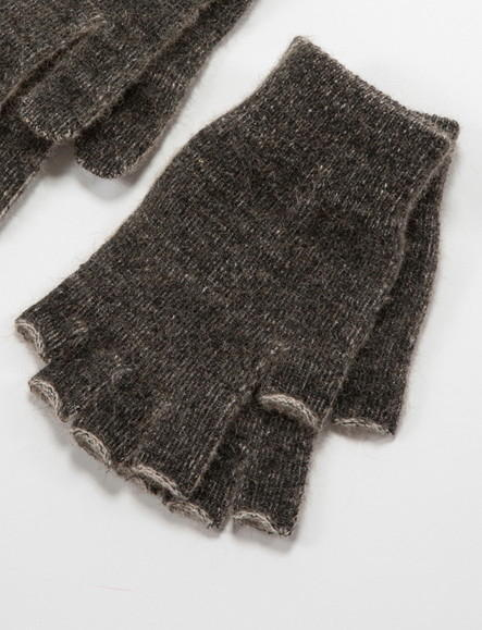 Thermal Fingerless Gloves NZ Possum Merino NW5041/NOBLE WILDE
