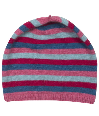 Striped Beanie (Kidz) Possum Merino Silk NX707/Native World