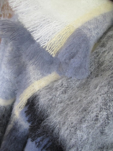 MASTERWEAVE WINDERMERE Plaid Mohair Throw * ARCTIC