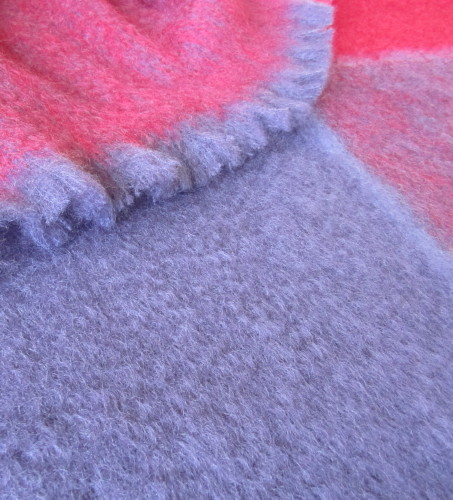Plaid Mohair In Berry Kid Mohair Throw Blankets New Zealand Made