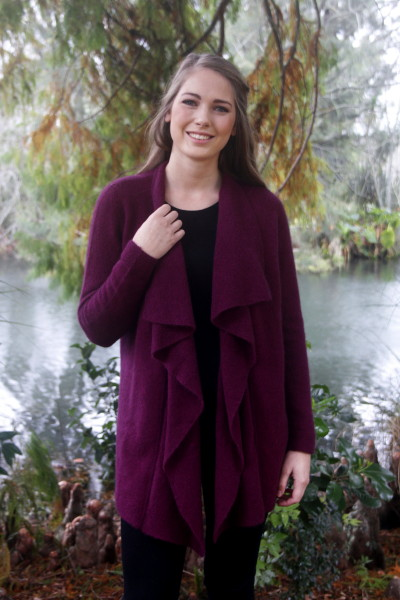 Waterfall Jacket Possum Merino LOTHLORIAN/9844