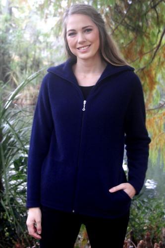 9842 Essential Jacket Pockets Possum Merino Knitwear