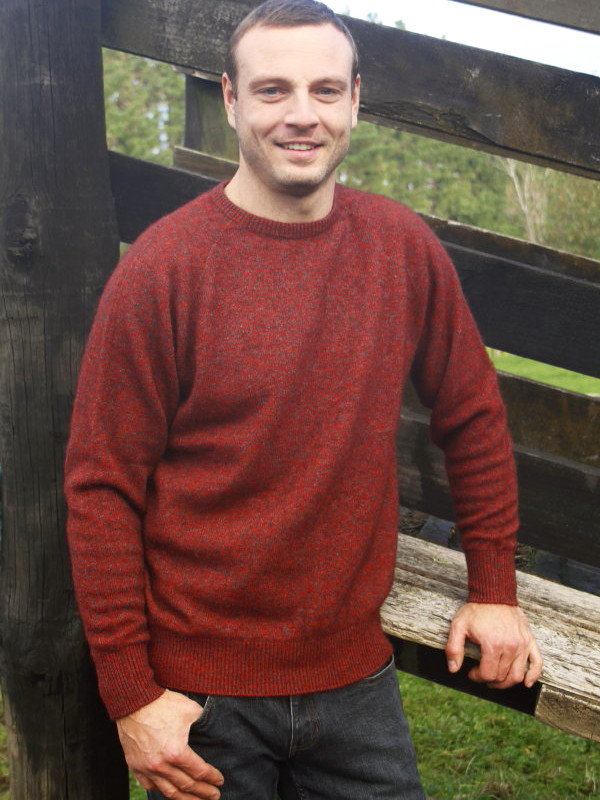 Men's Crew Neck Jumper Possum Merino LOTHLORIAN/9812