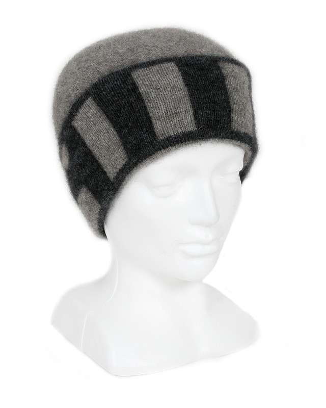 Directional Stripe Beanie in Possum Merino LOTHLORIAN/9883