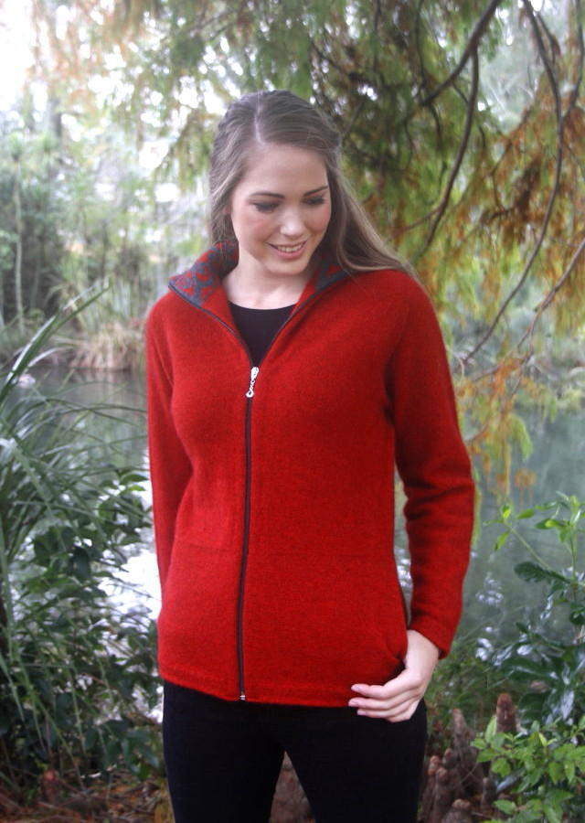 Aroha Jacket in Possum Merino LOTHLORIAN/9837