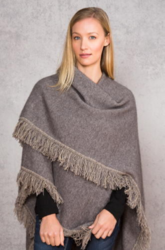 Fringed Cape in NZ Possum Merino NW3119/NOBLE WILDE