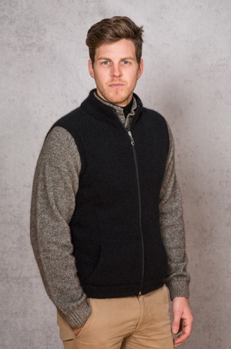 Noble Wilde NW1066 Men's Gillet Zip Vest Possum Merino