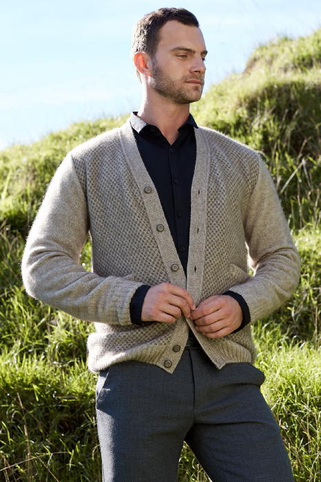 Multi Tone Button Cardigan Possum Merino Silk McDONALD/6612