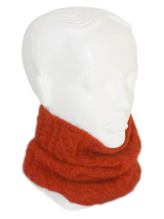 Cable Neck Gaiter/Headband Possum Merino LOTHLORIAN/9875