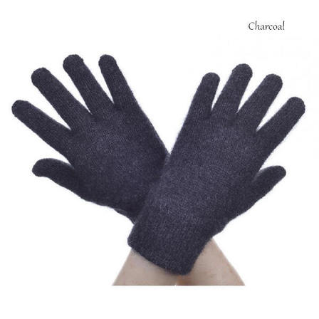 Clearance Special Gloves Possum Merino in Charcoal size M only