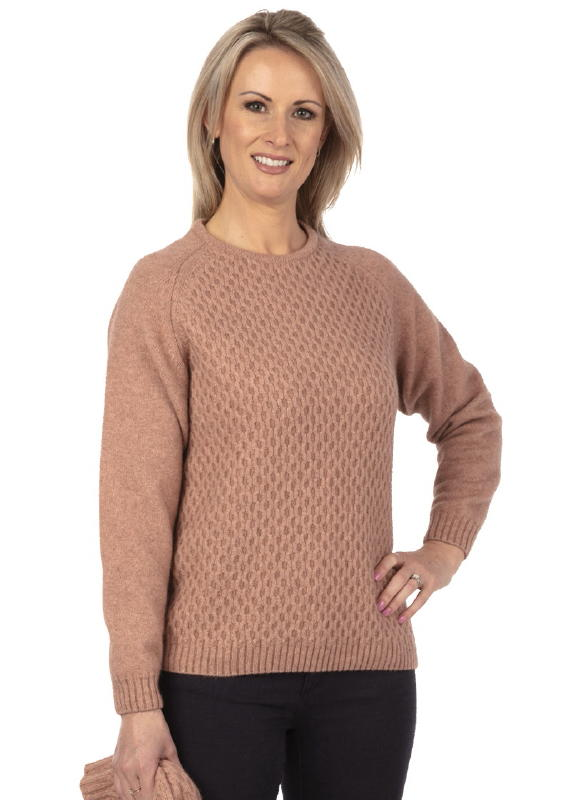 Arran Knit Sweater in Possum Merino Silk NE748/Nativeworld