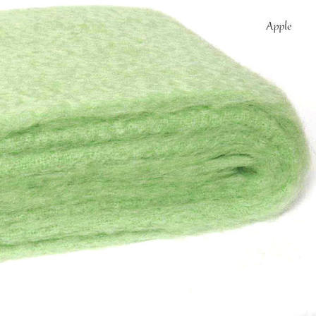 APPLE / NZ Mohair Throw Blanket Winter/Weight