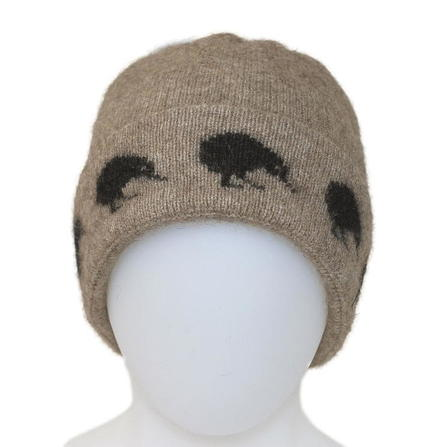 NZ Kiwi Beanie in Possum Merino Silk K0162/KORU