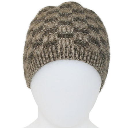 Basketweave Beanie in Possum Merino Silk K0216/KORU
