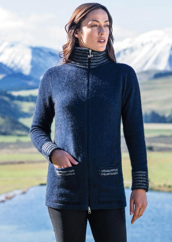 Te Anau Jacket in Possum Merino Silk MERINOMINK/1855