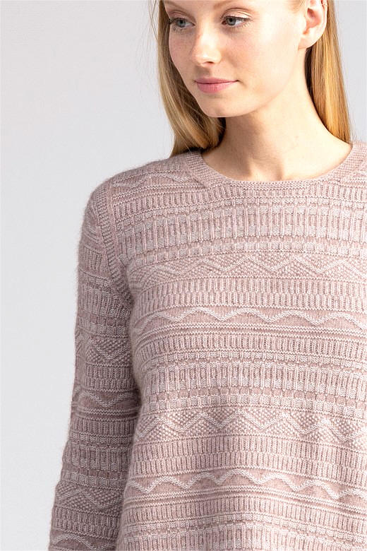 Peak Crop Sweater in Possum Merino Silk MERINOMINK/1888