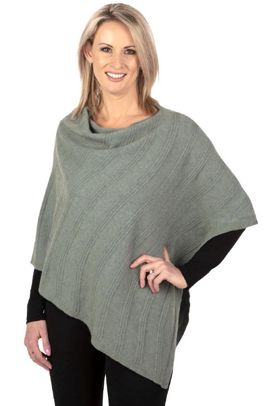 Wave Wrap in Possum Merino Silk NE801/Nativeworld