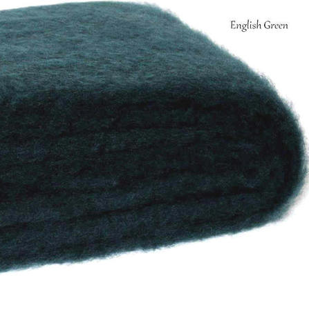 ENGLISH GREEN / NZ Mohair Couch or Chair Throw Rug Winter/Weight