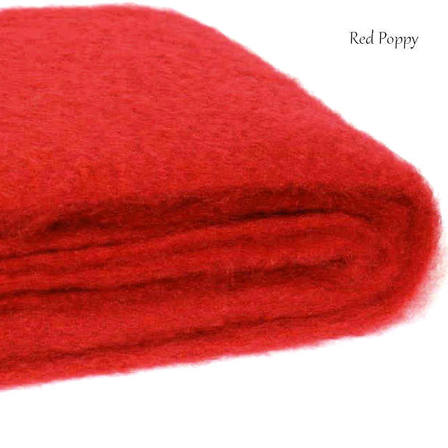 POPPY RED / NZ Mohair Couch or Chair Throw Rug Winter/Weight