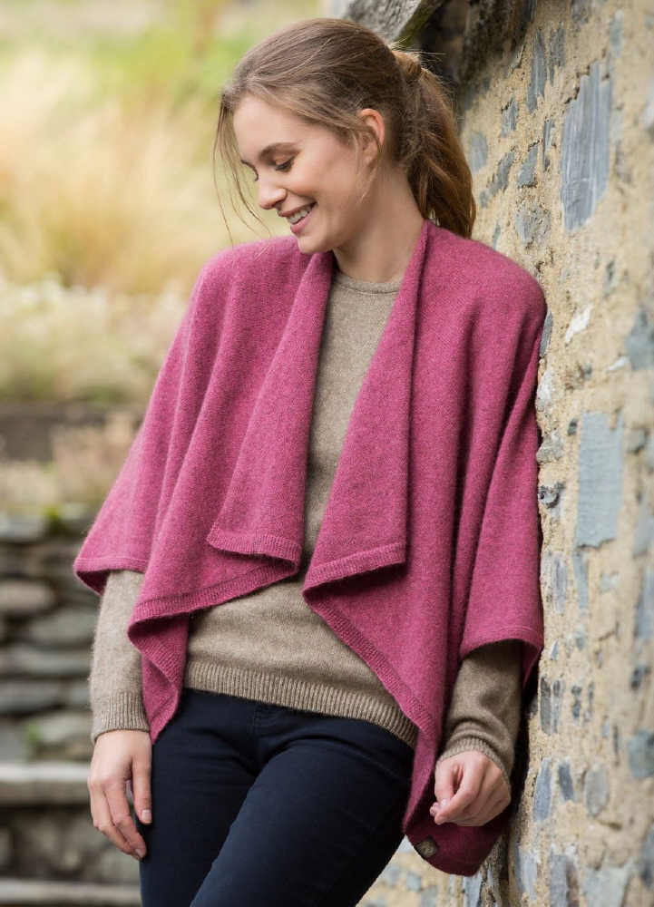 Two Way Wrap Jacket Possum Merino NW3156/NOBLE WILDE