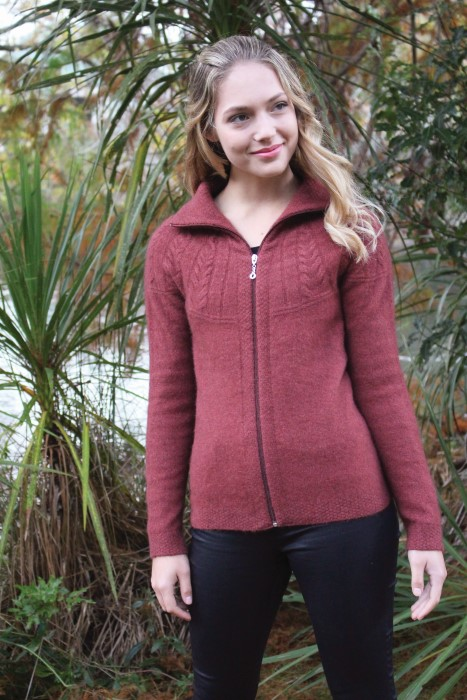 Rangitoto Cable Jacket Possum Merino LOTHLORIAN/9774