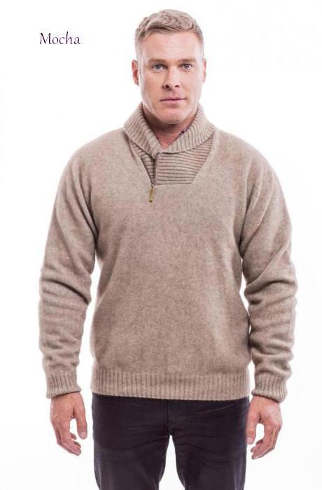 Shawl Collar Sweater 6224 Mcdonald Textiles Nz Possum