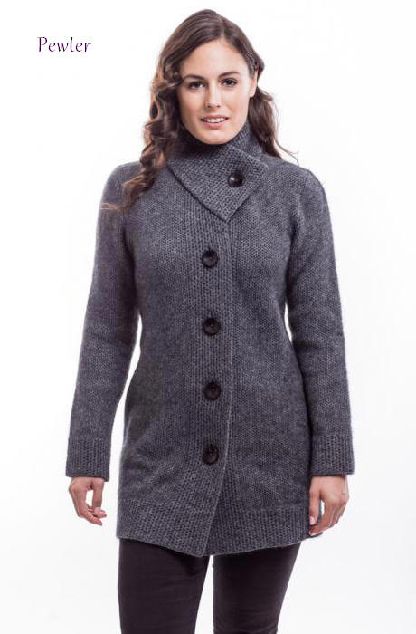 Mcdonald Longline Coat 6112 Nz Possum Merino Silk In