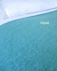 Heirloom Weavers NZ Aqua Mohair Blanket