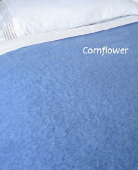Heirloom Weavers NZ Cornflower Mohair Blanket