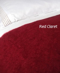 Heirloom Weavers NZ Red Claret Mohair Blanket